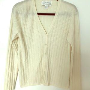 Vtg Saks Fifth Avenue collection cashmere cardigan